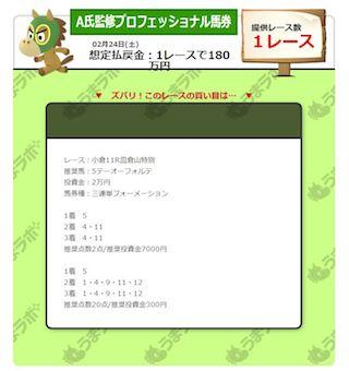 【A氏監修プロフェッショナル馬券】0224画像のコピー